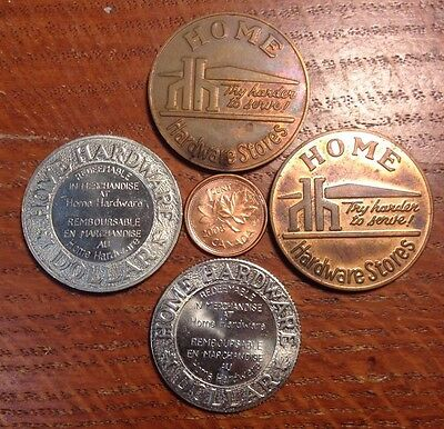 Canada - Home Hardware Dollar - 4 Coins - Collection lot
