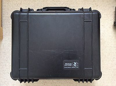 Genuine Peli Case Type 1550 Black Good Clean Used Item Collect Preferred WD3 3LY