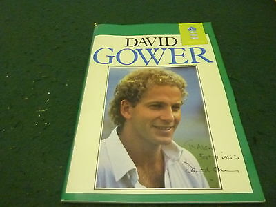 David Gower 96 Page 1980's Benefit Book with Hand Signed Cricket Signature