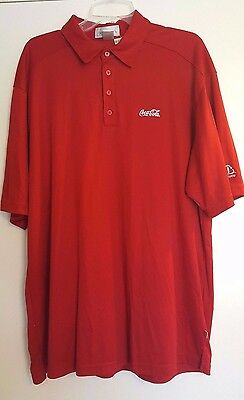Coca Cola Recycle Eco Dry Fit Polo Shirt Red XL A2