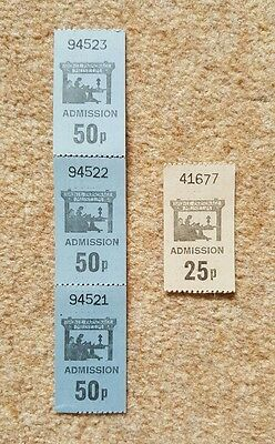 Vintage 80's admission tickets for the Bronte Parsonage Museum