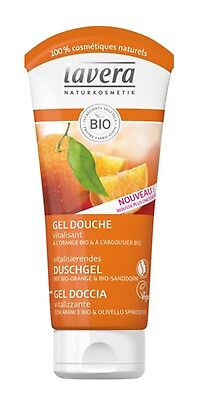 LAVERA Gel Douche BIO,  Orange Et Argousier 200ml