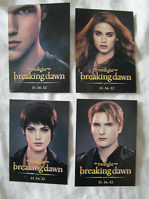 Twilight Breaking Dawn Part 2 Comic Con Trading Cards Set #2  Taylor Lautner