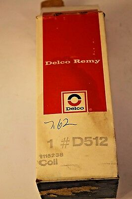 Nos Gm Delco Remy Ignition Coil 1115238 D512 Chevy Corvette Camaro Gto Pontiac