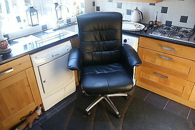Office Chair Black Swivel & Tilt Large Desk Chair
