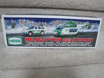 "MIB 2012 Hess Helicopter And Rescue Truck Battery Operated Set ""WOW"""