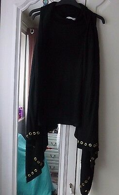 Womens Black Waterfall Waistcoat Cardigan Size M Brand New without Tags