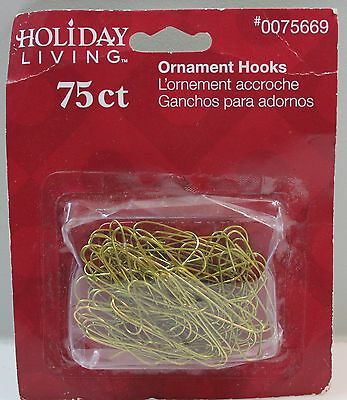 "Gold Ornament Hooks Hangers 1.5"" Long 75ct"