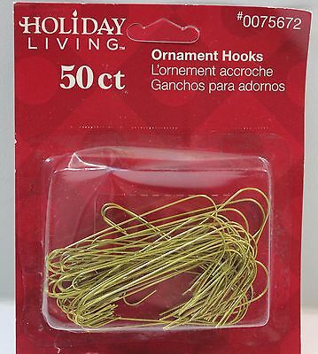 "Gold Ornament Hooks Hangers 2.5"" Long 50ct"