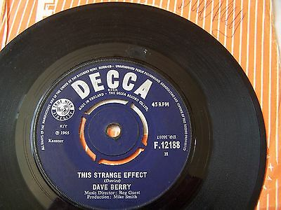 Dave Berry - This Strange Effect / Now  ** Autograph **