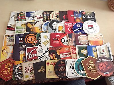 50 DIFFERENT Beermats Foreign & Continential