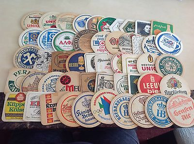 50 DIFFERENT Beermats Vintage Foreign & Continential