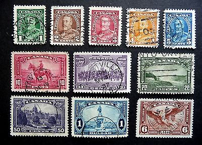 CANADA KGV 1935 Pictorial definitive set SG341-5/7-51 (no 8c)     USED
