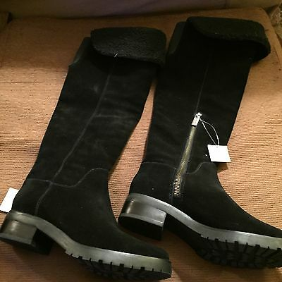 Michael Kors Black Suede Knee High Boots. Brand New. Size 6.