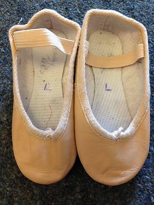 Roch Valley pink leather ballet shoes size 8 (infant)