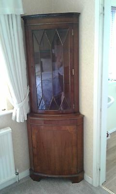 Antique Mahogany Bow Fronted Corner Cabinet