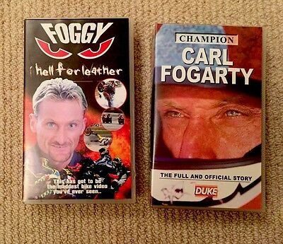 Collectable Carl Fogarty Videos: Foggy Hell For Leather & Champion Carl Fogarty