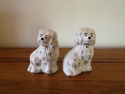 Pair of Vintage Royal Doulton Staffordshire mantle Dogs 1378-7