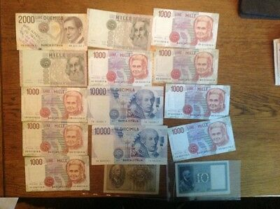 collection of Italy lire banknotes 2