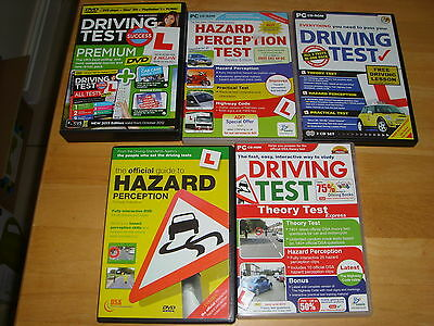 5 X Driving Test Theory Hazard Etc Cds - Job Lot Various Bundle