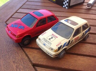 scalextric 2 x Ford Fiesta XR2i cars
