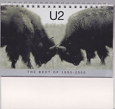 U2 - The Best Of 1990 - 2000 - Rare promo only desk calendar