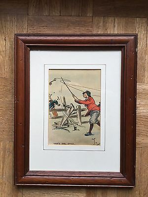 Golf That's The Hole Framed Antique Print Original Grafik mit Rahmen