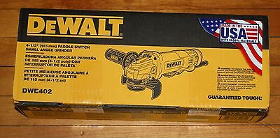DeWALT DWE402 4-1/2-Inch 11-Amp Paddle Switch Angle Grinder New