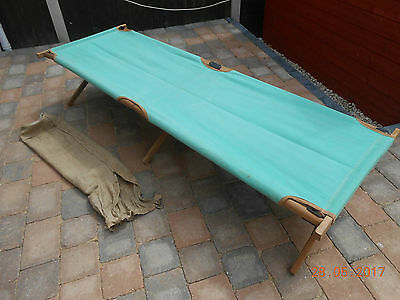 Vintage Fold Out Wooden Camp Bed - Collection Only