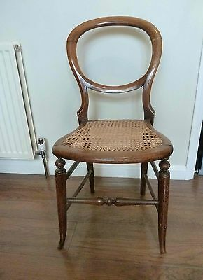 Victorian Balloon Back  Small Chair -Cane Seat