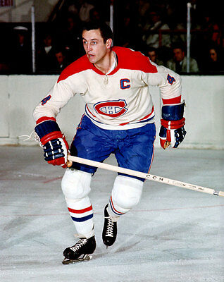 Jean Beliveau Montreal Canadiens Unsigned 8x10 Photo