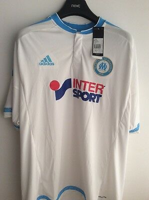 Olympique Marseille Home Jersey Adidas Size XXL NEW