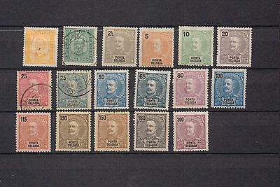 Ponte Delgada. Azores. 1892-1897. A selection of MH & used stamps.