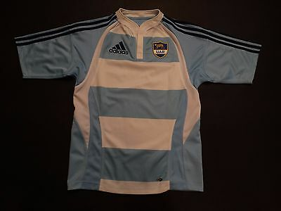 Vintage Argentina rugby shirt 2007-09 made by Adidas S size Small Los Pumas VGC+