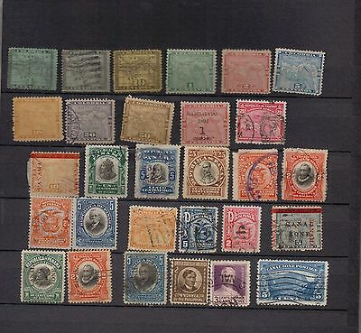 Panama & Canal Zone. 1887-1936. A selection of 29 MH & used stamps.