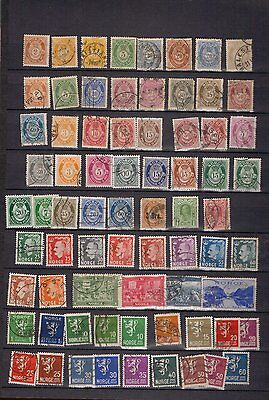 Norway. 1883-c1965.  A selection of 102 used stamps.