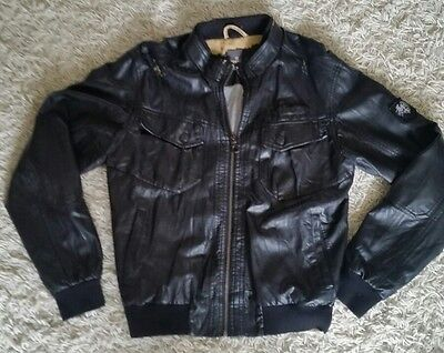 Soviet Faux Leather Jacket Mens Size Medium