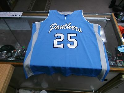 Panthers #25 Women's Russell Athletic Basketball Jersey Size XL Blue #7794