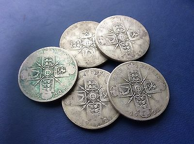 Five George V worn Florins from the early 1920's