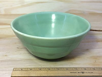 Jade Green glaze Stoneware Mixing Bowl marked USA 12 Beehive shaped