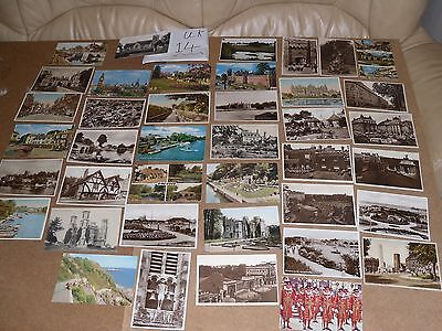 Job Lot Mix 40 Different Old Uk Postcards None Posted B&w Uk 14