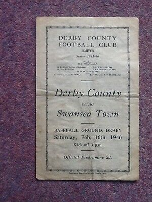 Derby county v Swansea Town 16-2-1946