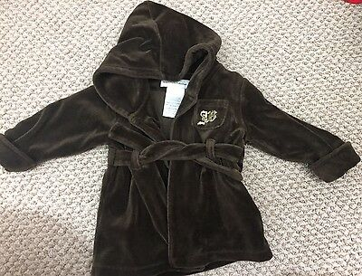 Juicy Couture Baby Robe Brown Velour 0-9 Months
