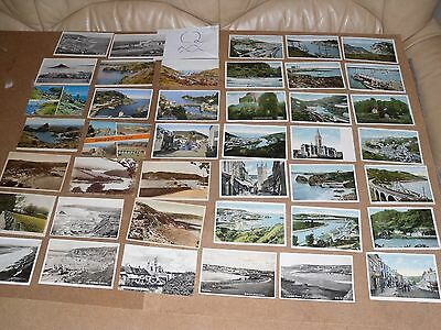 Job Lot Mix 40 Different Old Cornwall Postcards 7 Posted With Stamps C 2