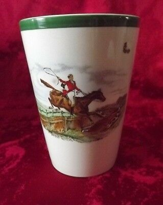 Copeland Spode Hunting Scene Beaker By Jf Herring - Just Over 4 Inches Tall