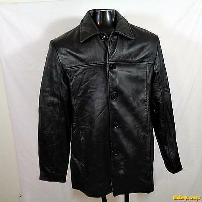 ROGUE Reilly Olmes Soft Lambskin Leather JACKET Car Coat Mens Size M black