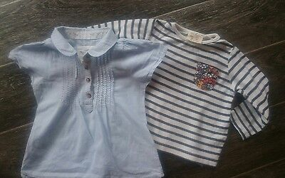 girls zara & H&M tops 2,6 months