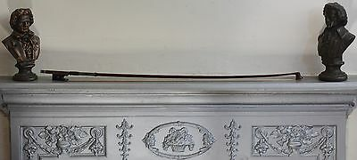 "vintage violin bow stamped ""Simon A Paris"" sterling silver"