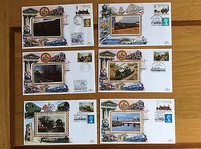 Lot 2 Selection of 6 Benham silk Railway covers with commemorative postmarks