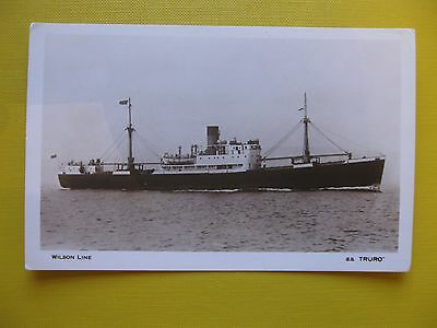 Postcard card 1962 SS Truro Wilson Line cruise liner free post